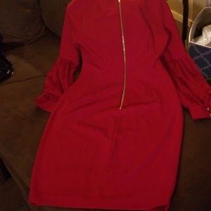 Calvin Klein red dress size 8